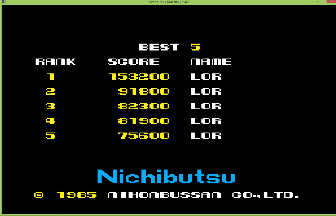 lenny2571: Mag Max (Arcade Emulated / M.A.M.E.) 153,200 points on 2015-12-05 11:38:27