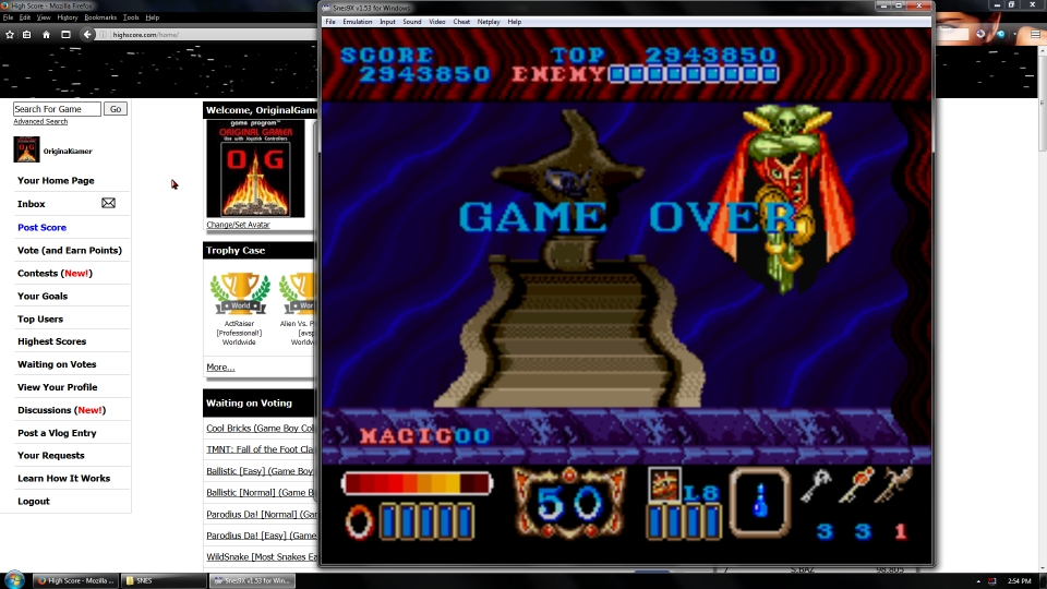 OriginalGamer: Magic Sword [Easy] (SNES/Super Famicom Emulated) 2,943,850 points on 2016-07-15 15:57:05