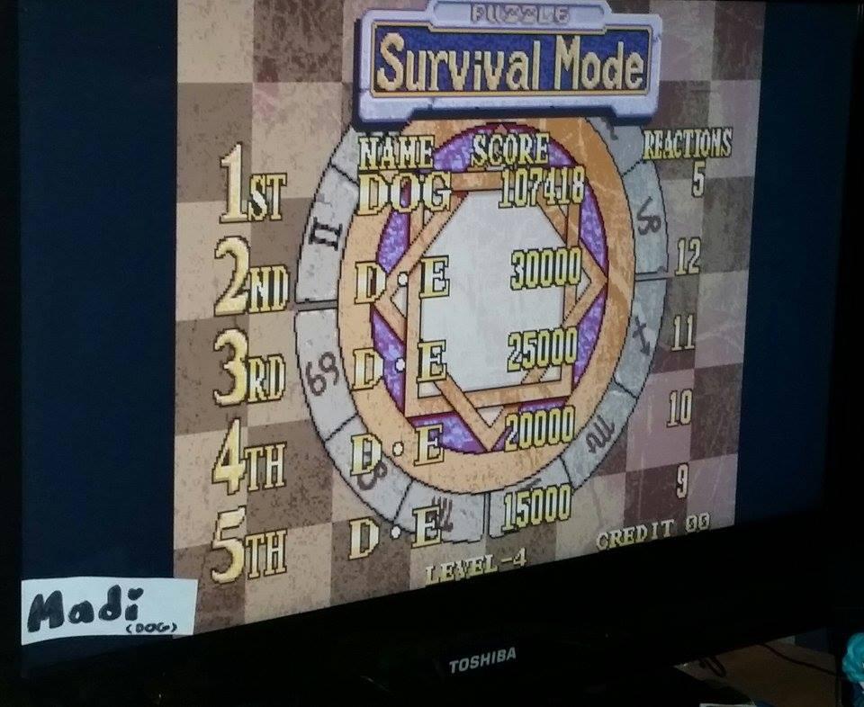 Magical Drop 3 [Survival Mode/Easy] 107,418 points