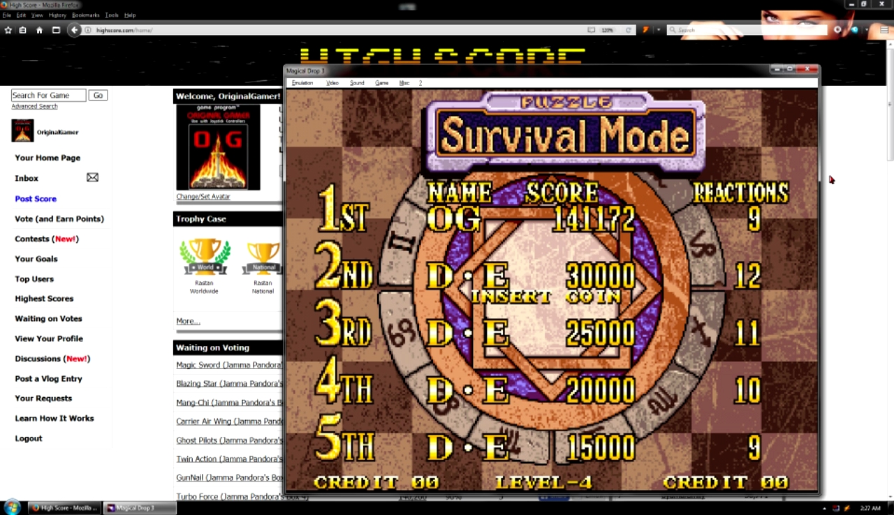 OriginalGamer: Magical Drop 3 [Survival Mode/Easy] (Neo Geo Emulated) 141,172 points on 2017-10-29 23:07:49