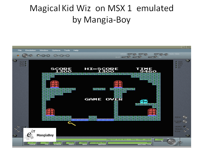 MangiaBoy: Magical Kid Wiz (MSX Emulated) 1,300 points on 2019-01-13 10:09:16