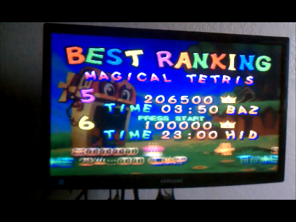 S.BAZ: Magical Tetris Challenge: Magical Tetris [Normal] (N64) 206,500 points on 2016-06-07 17:53:44