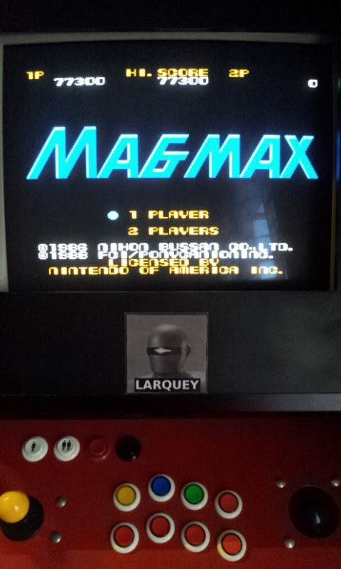 Larquey: Magmax (NES/Famicom Emulated) 77,300 points on 2017-09-01 12:20:34