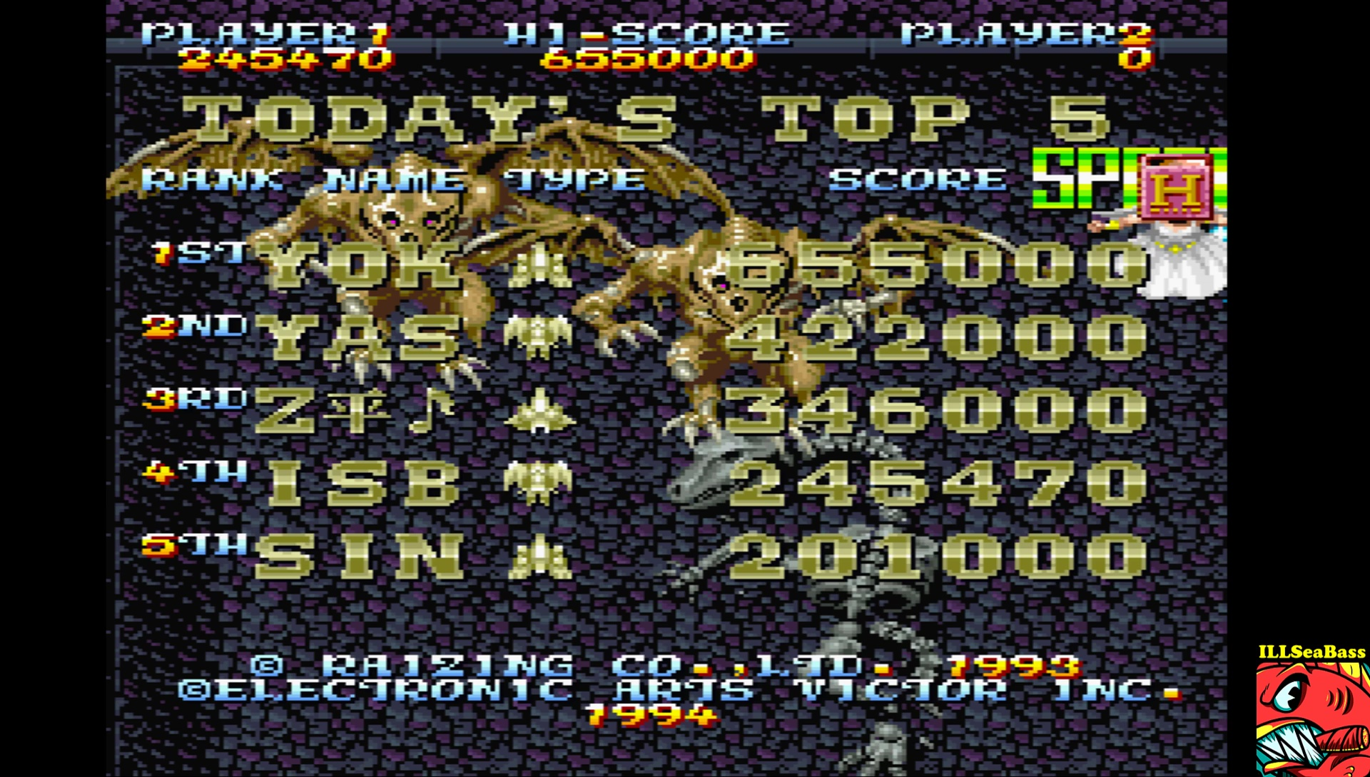 ILLSeaBass: Mahou Daisakusen [Normal] (Sharp X68000 Emulated) 245,470 points on 2017-07-02 13:28:19