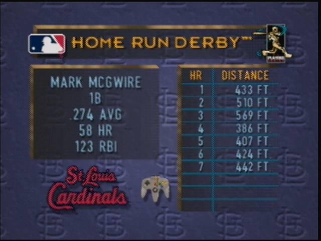 derek: Major League Baseball Featuring Ken Griffey Jr. [Home Run Derby / Traditional] (N64) 7 points on 2016-04-22 16:42:48