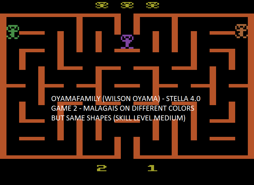 oyamafamily: Malagai: Game 2 (Atari 2600 Emulated Novice/B Mode) 1,750 points on 2015-08-03 20:59:04