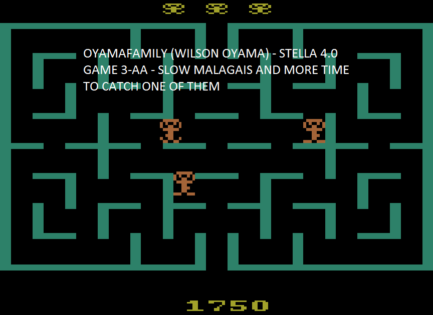 oyamafamily: Malagai: Game 3 (Atari 2600 Emulated Expert/A Mode) 1,750 points on 2015-08-03 20:58:12