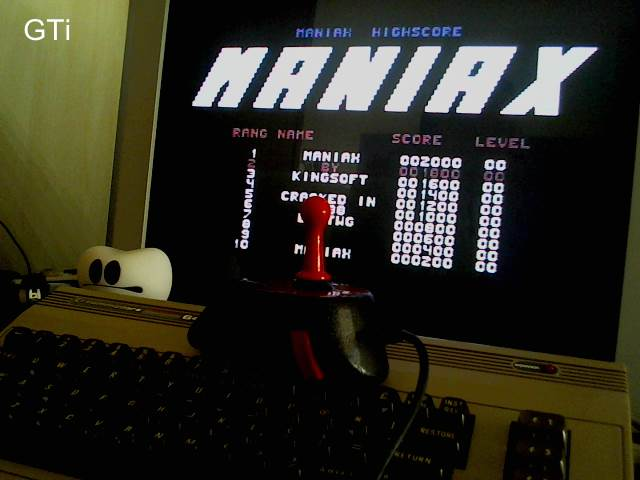 GTibel: Maniax (Commodore 64) 252,155 points on 2017-05-04 09:53:32