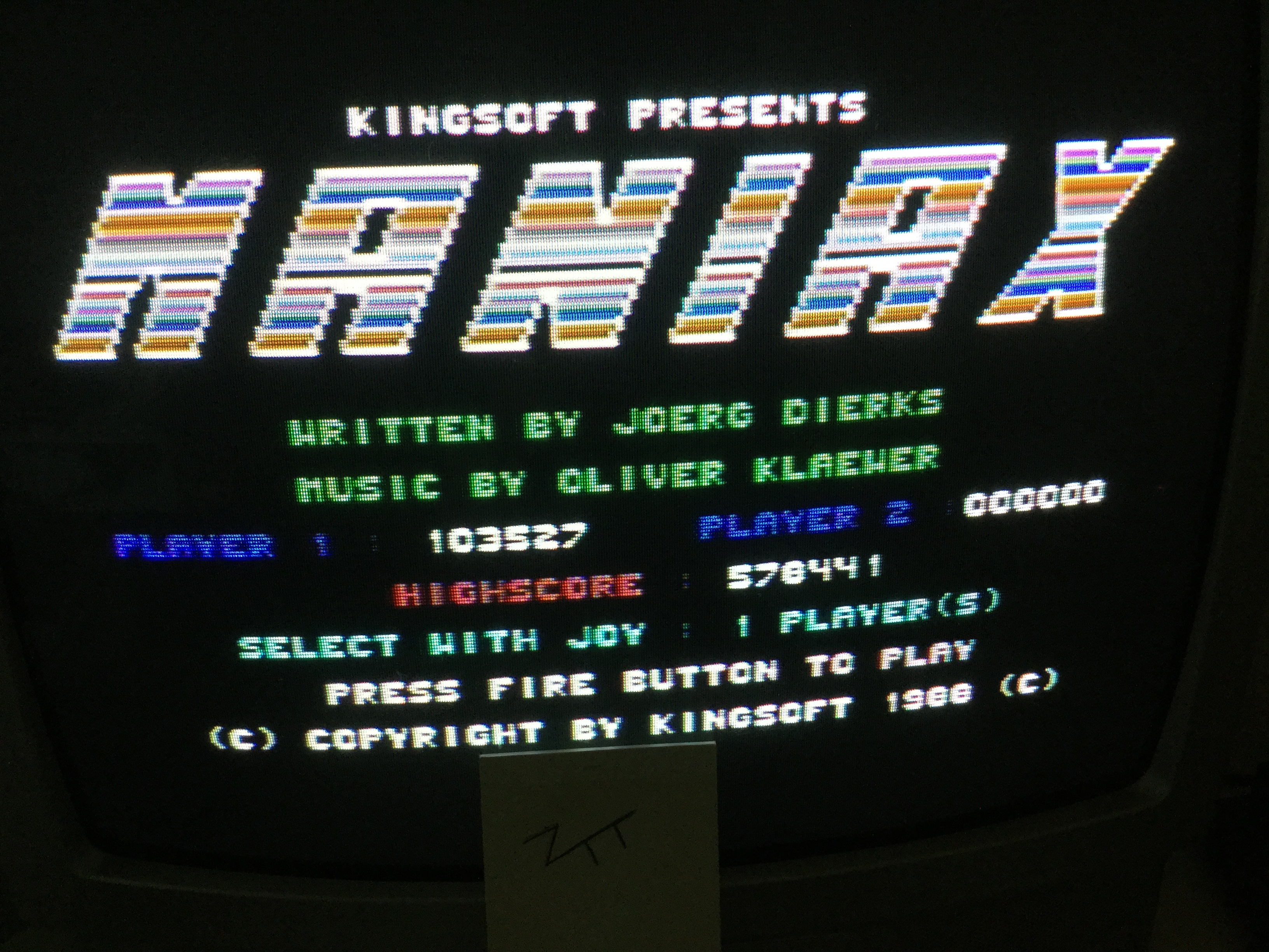 Frankie: Maniax (Commodore 64) 103,527 points on 2017-05-19 11:55:05