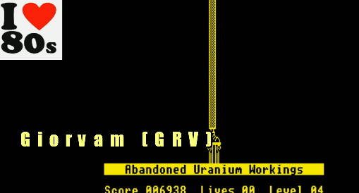 Giorvam: Manic Miner (BBC Micro Emulated) 6,938 points on 2018-01-29 05:14:12