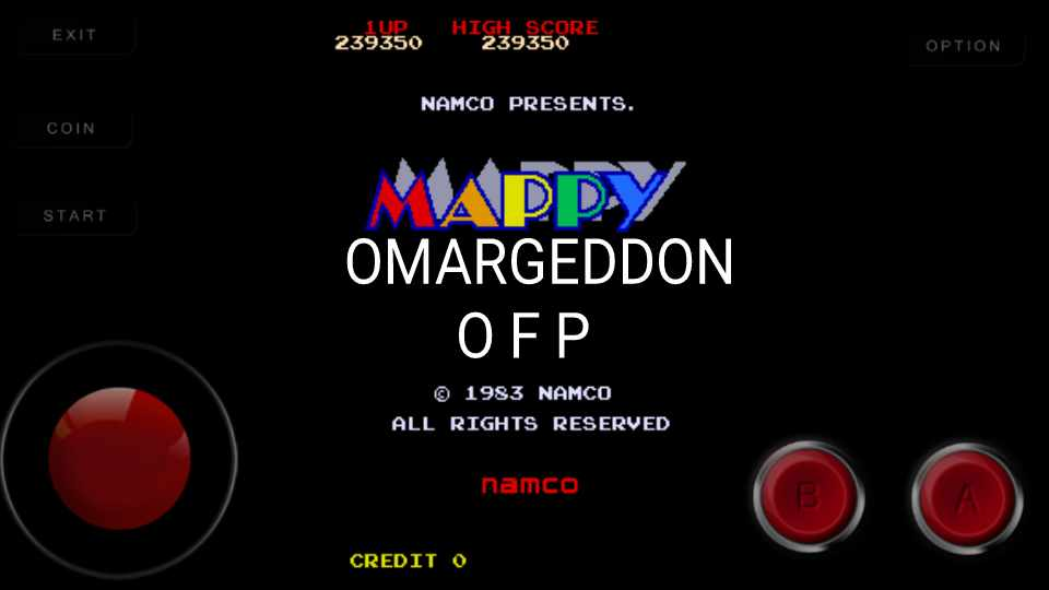 omargeddon: Mappy (Arcade Emulated / M.A.M.E.) 239,350 points on 2016-11-13 23:52:00