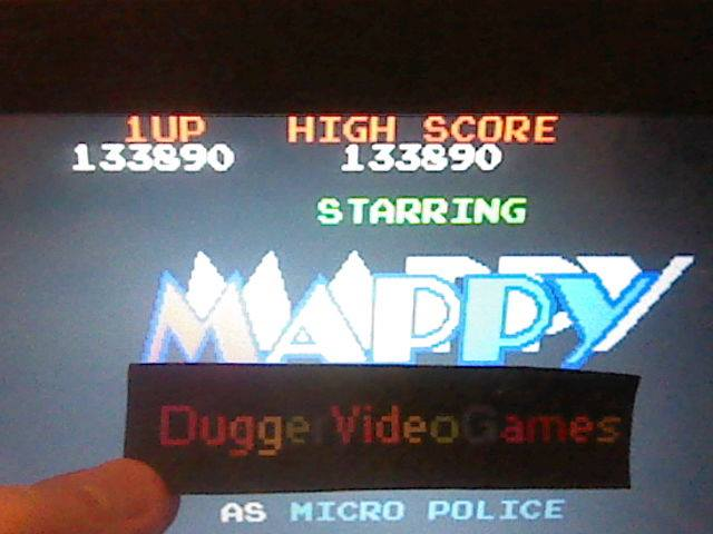 DuggerVideoGames: Mappy (Arcade Emulated / M.A.M.E.) 133,890 points on 2017-08-03 01:11:26