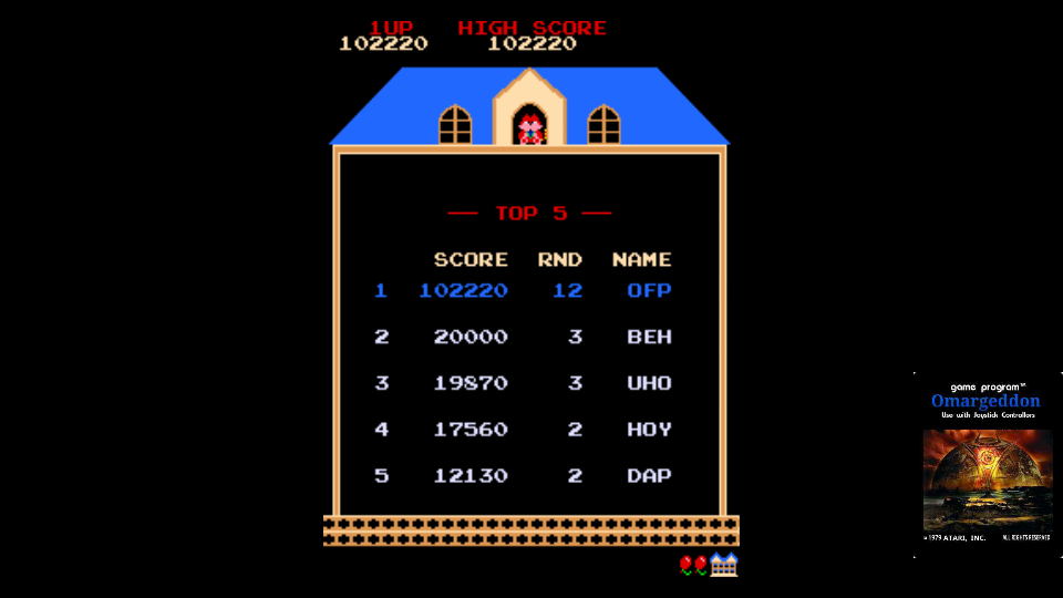 omargeddon: Mappy (Arcade Emulated / M.A.M.E.) 102,220 points on 2017-10-30 13:02:49