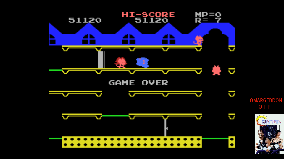 omargeddon: Mappy (MSX Emulated) 51,120 points on 2017-07-21 00:34:14