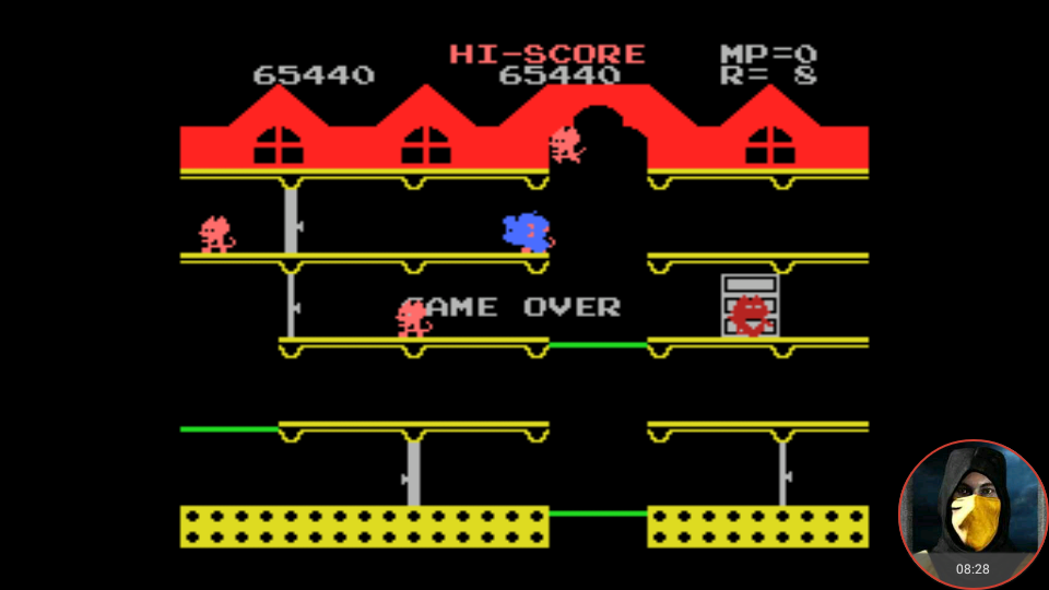 omargeddon: Mappy (MSX Emulated) 65,440 points on 2018-02-08 23:25:20
