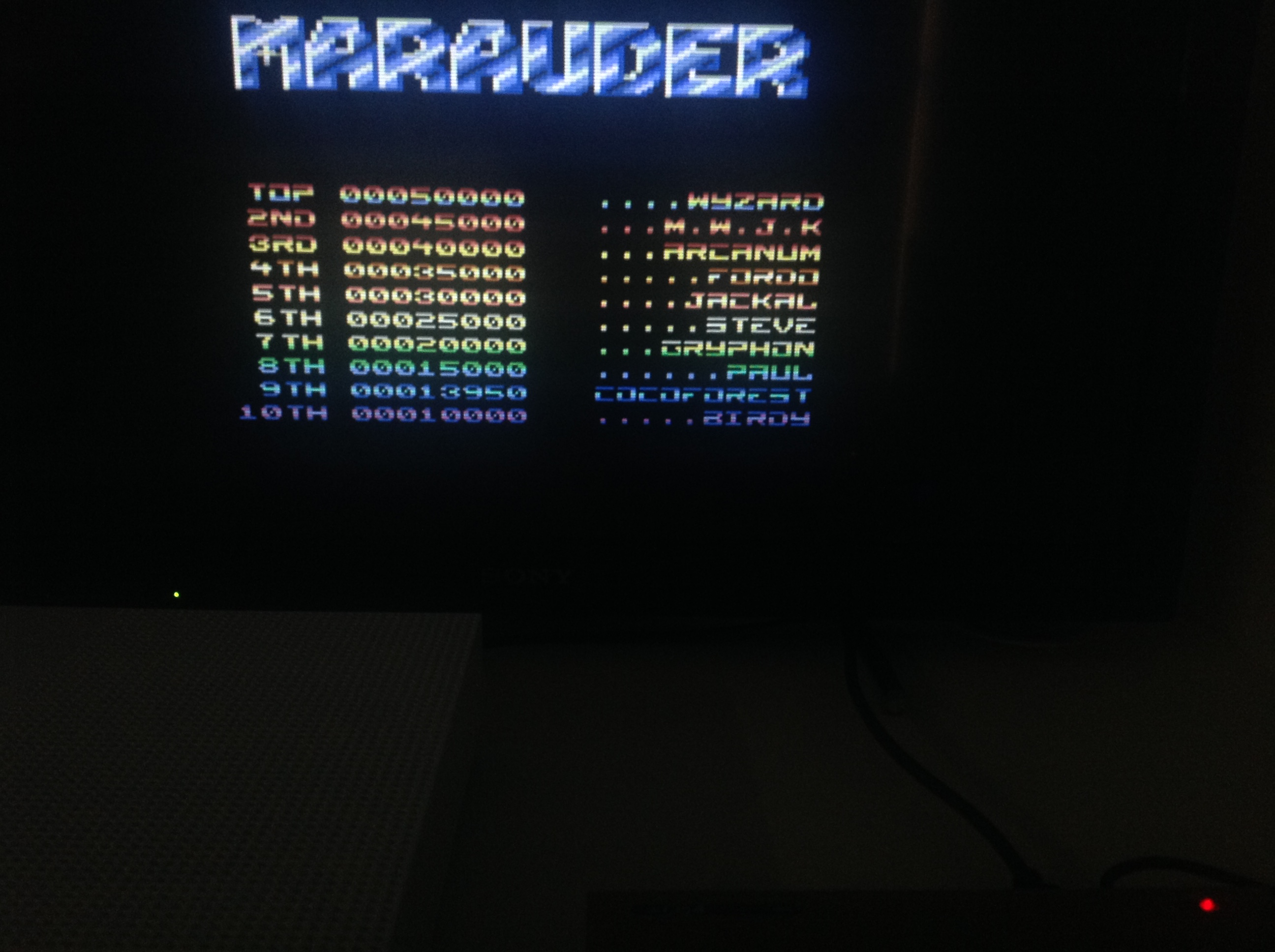 CoCoForest: Marauder (Commodore 64 Emulated) 13,950 points on 2018-04-19 05:09:33