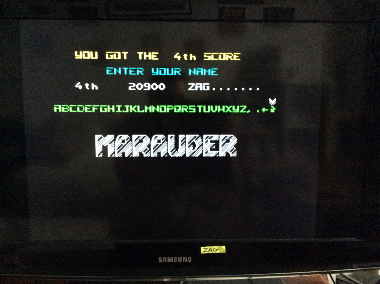 Zagrebista: Marauder (ZX Spectrum Emulated) 20,900 points on 2017-02-12 08:38:14