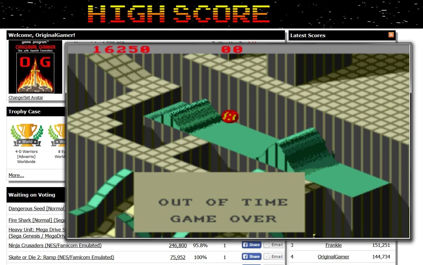 OriginalGamer: Marble Madness (Amiga Emulated) 16,250 points on 2015-07-03 23:02:02