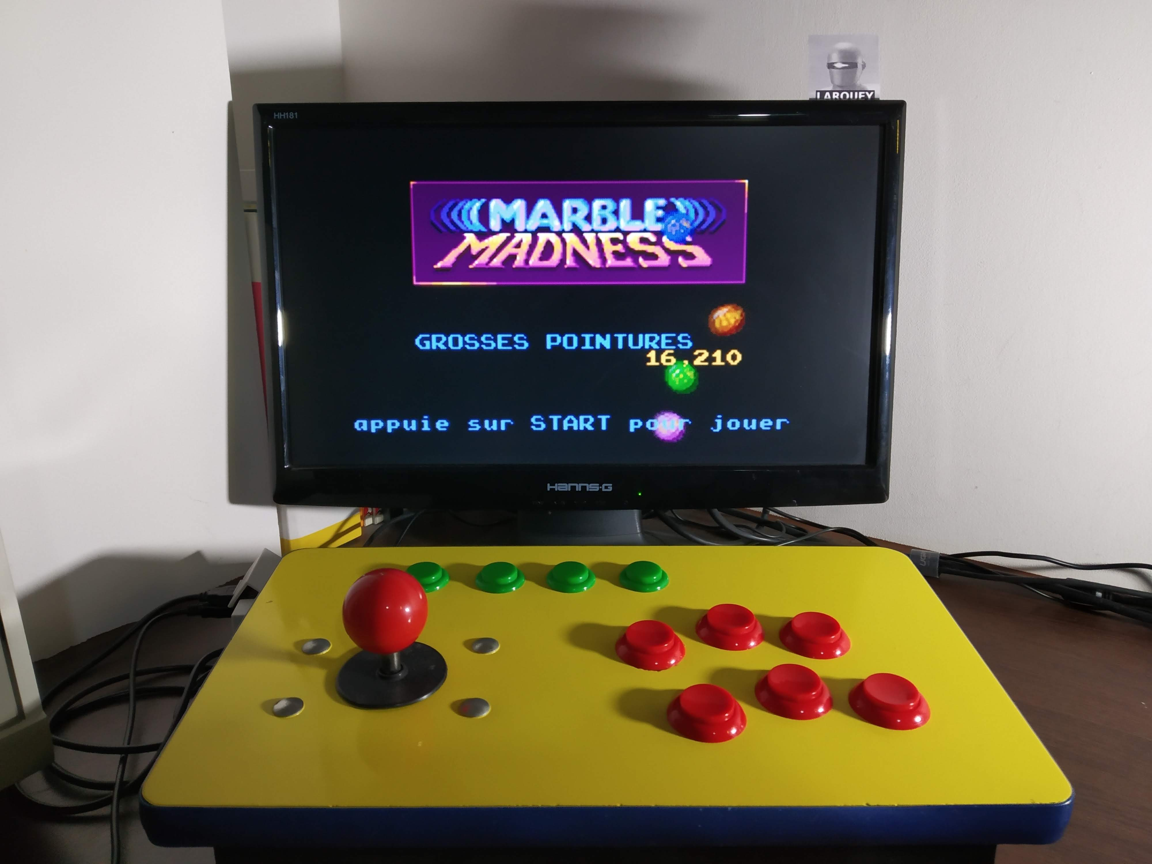 Marble Madness 16,210 points