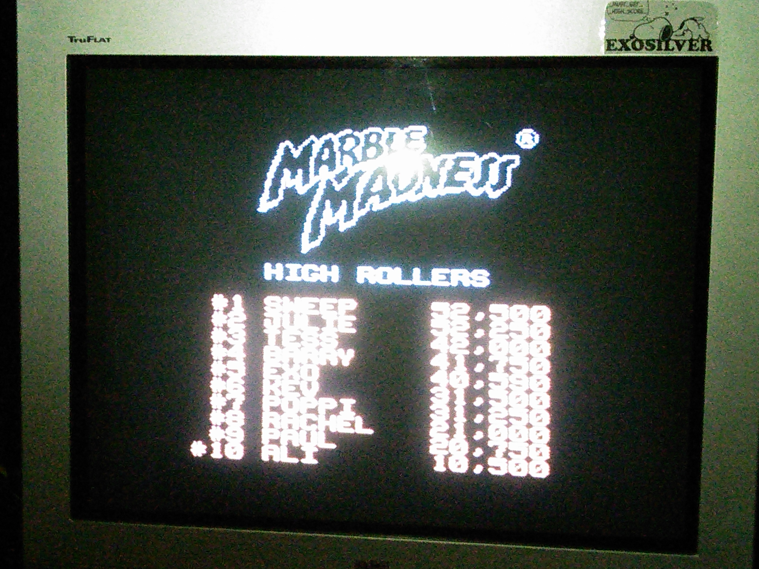 exosilver: Marble Madness (NES/Famicom) 40,590 points on 2017-01-08 23:08:37