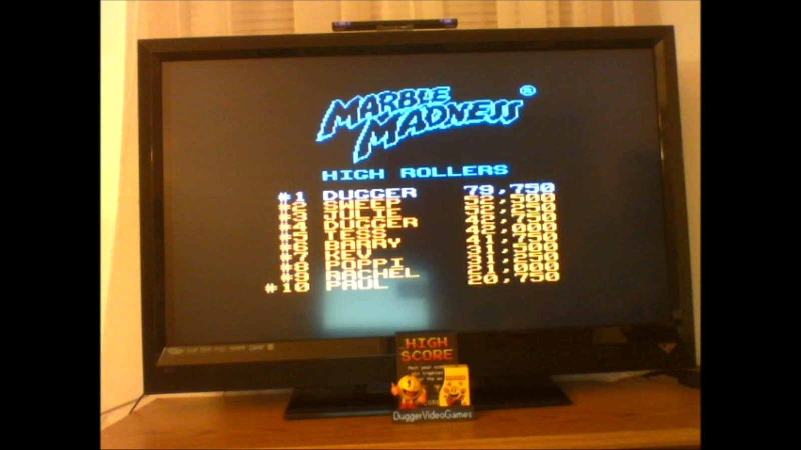DuggerVideoGames: Marble Madness (NES/Famicom Emulated) 79,750 points on 2017-01-14 03:19:07