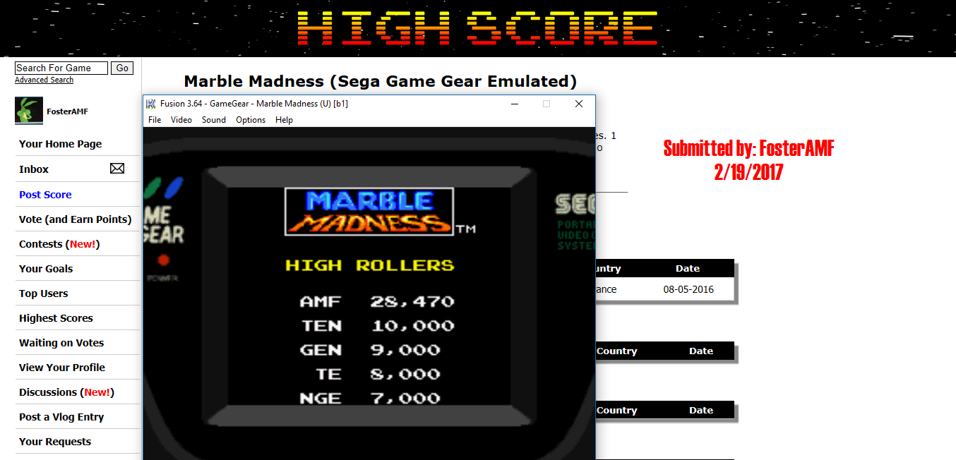 FosterAMF: Marble Madness (Sega Game Gear Emulated) 28,470 points on 2017-02-19 16:21:33