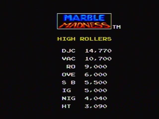 Marble Madness 14,770 points