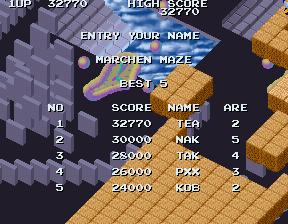 GAMES: Marchen Maze (Arcade) 32,770 points on 2019-12-17 08:55:14