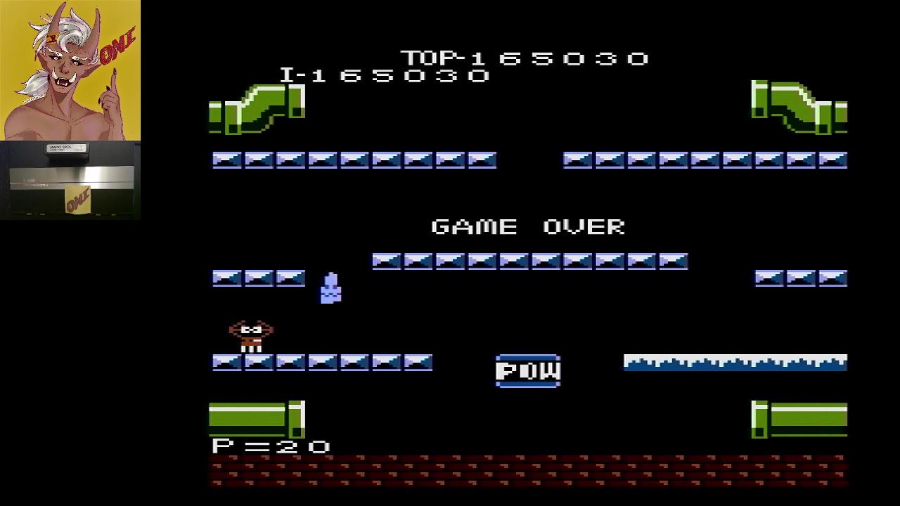 OniDensetsu: Mario Bros. [Advanced] (Atari 7800) 165,030 points on 2021-02-21 16:03:18