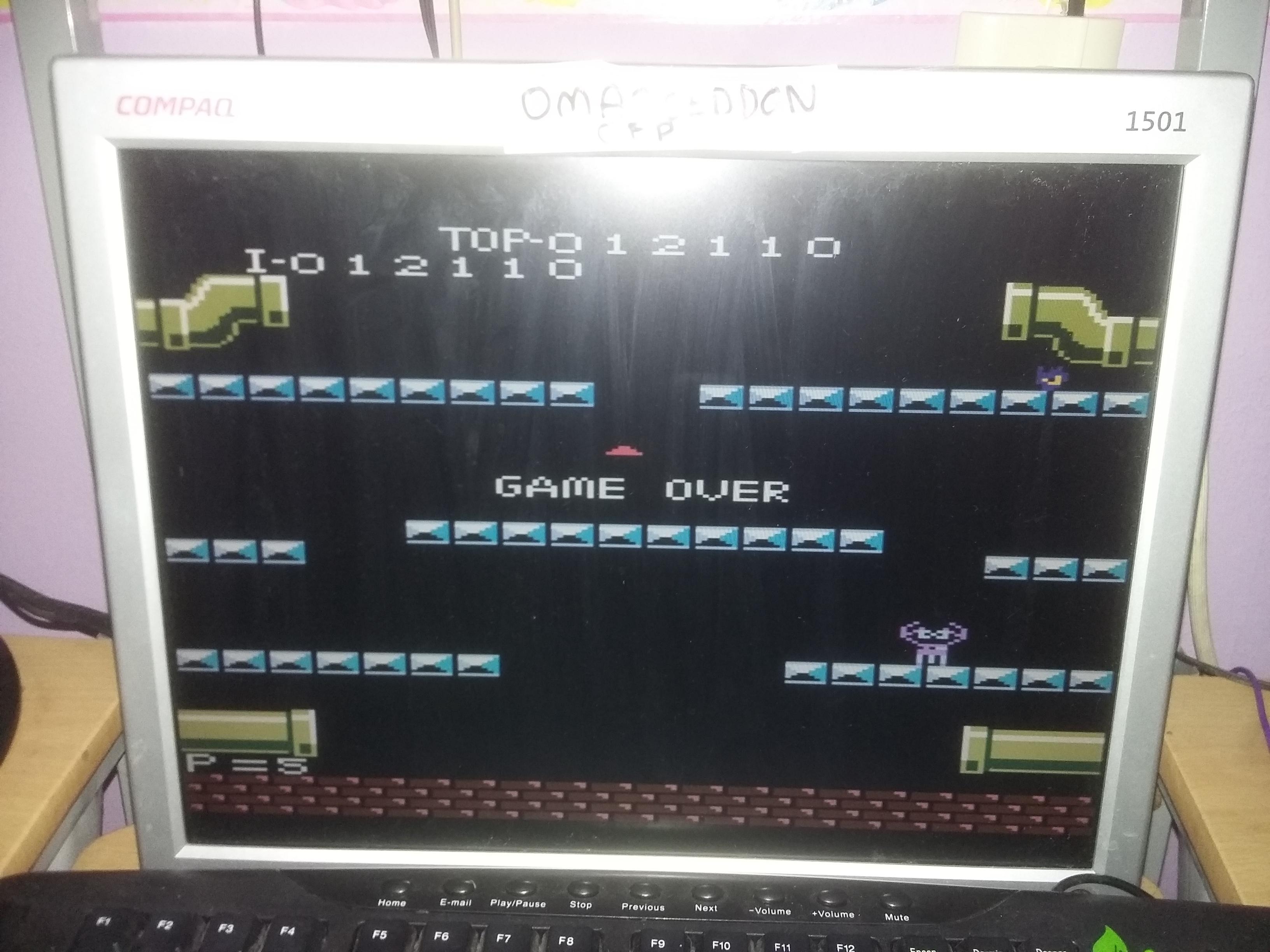 Mario Bros. [Advanced] 12,110 points