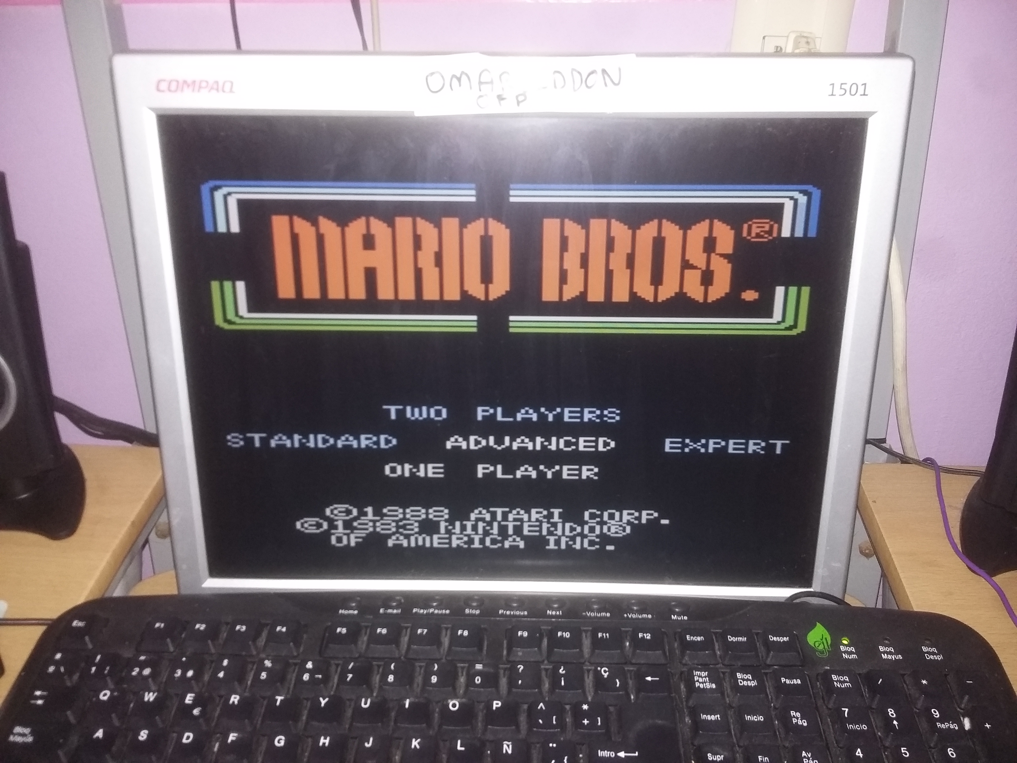 omargeddon: Mario Bros. [Advanced] (Atari 7800 Emulated) 12,110 points on 2017-01-09 09:35:01