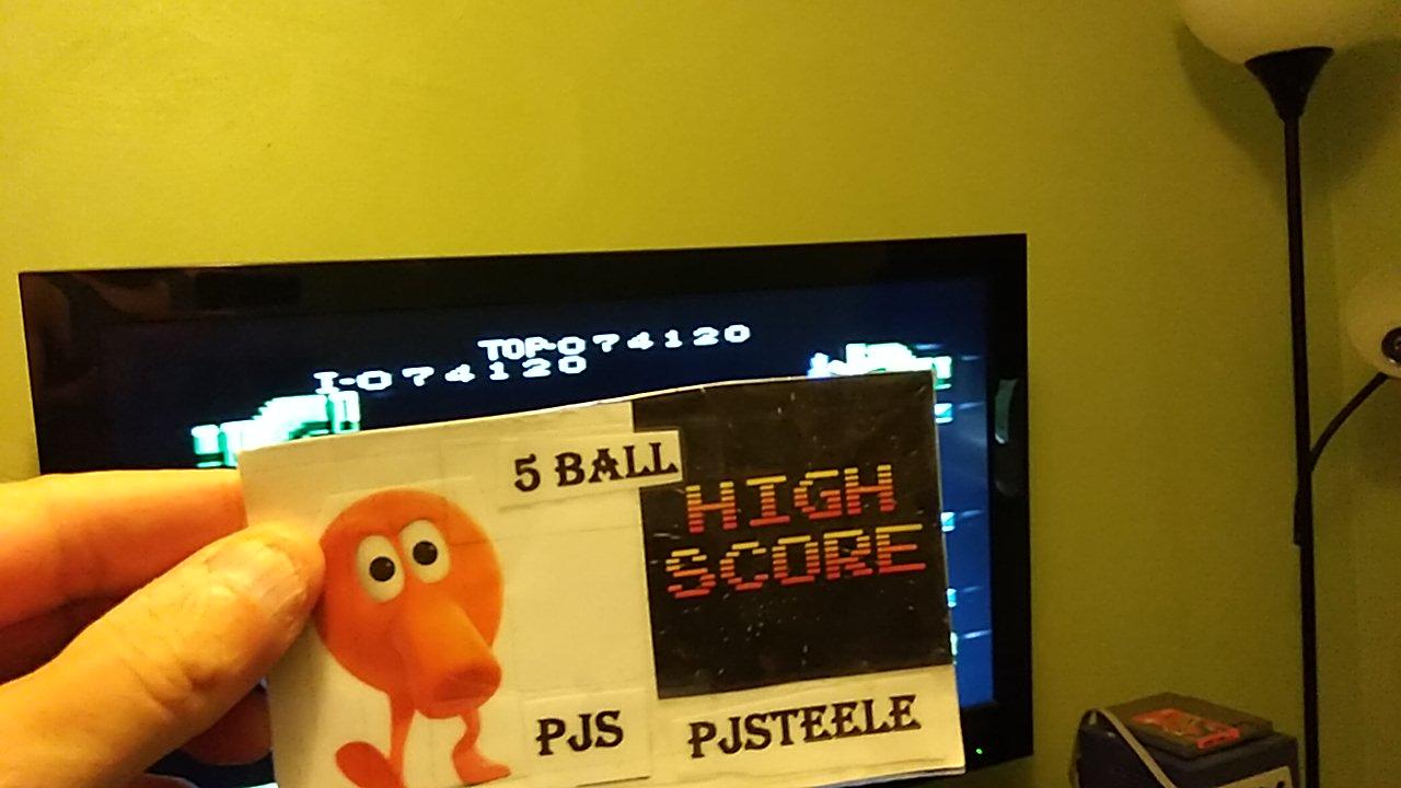 Mario Bros. [Advanced] 74,120 points