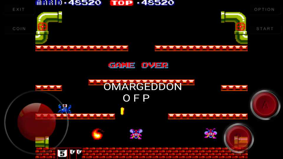 omargeddon: Mario Bros (Arcade Emulated / M.A.M.E.) 48,520 points on 2016-09-22 23:45:00