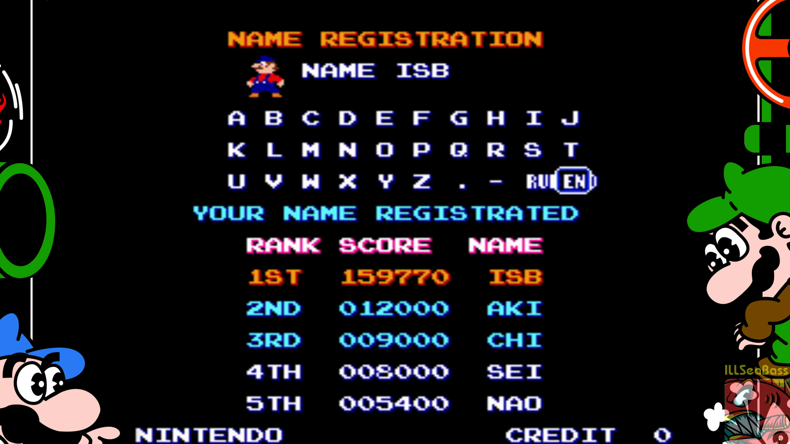 ILLSeaBass: Mario Bros (Arcade Emulated / M.A.M.E.) 159,770 points on 2018-07-15 20:26:11