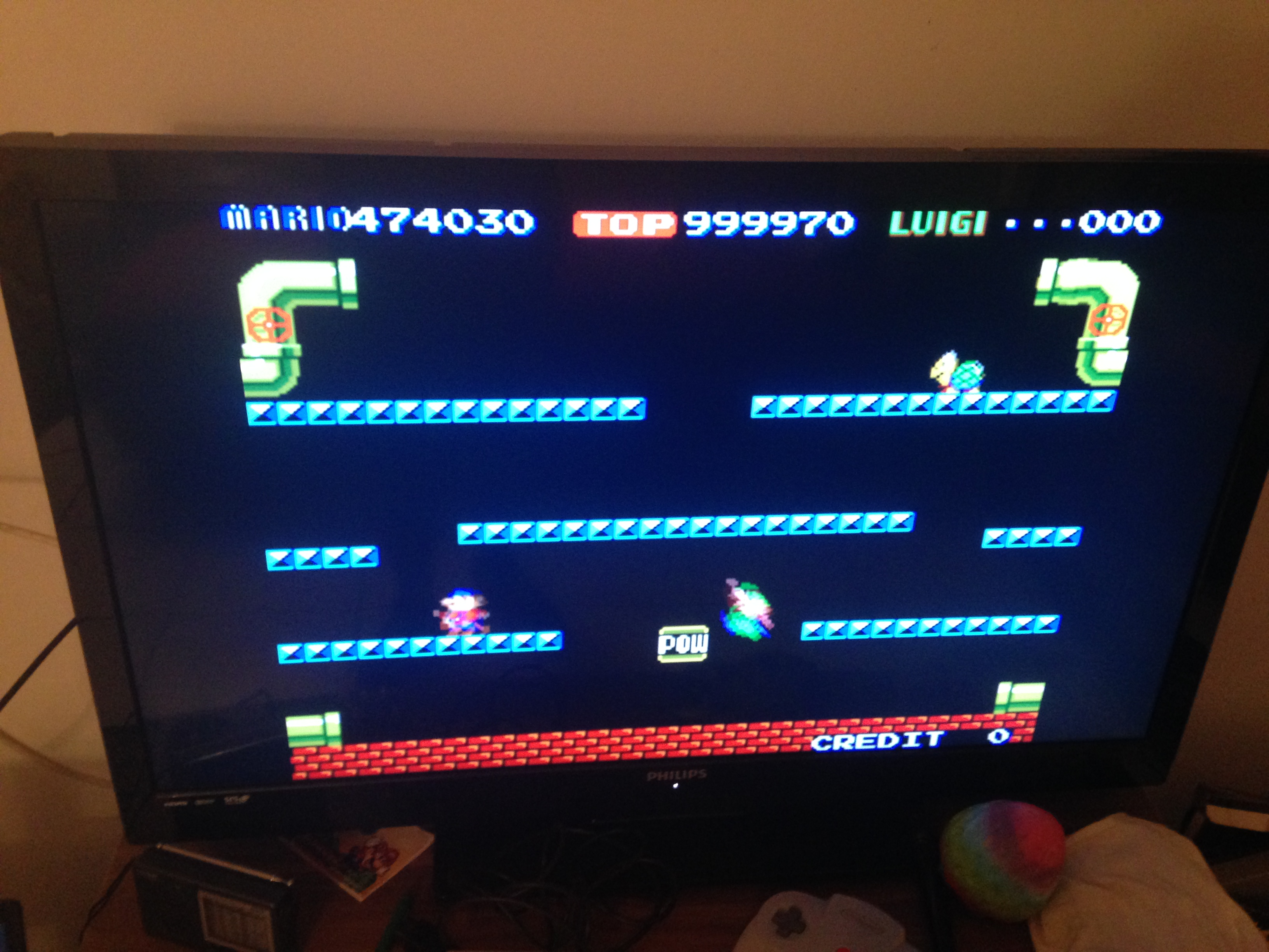 Mario Bros 5,474,030 points