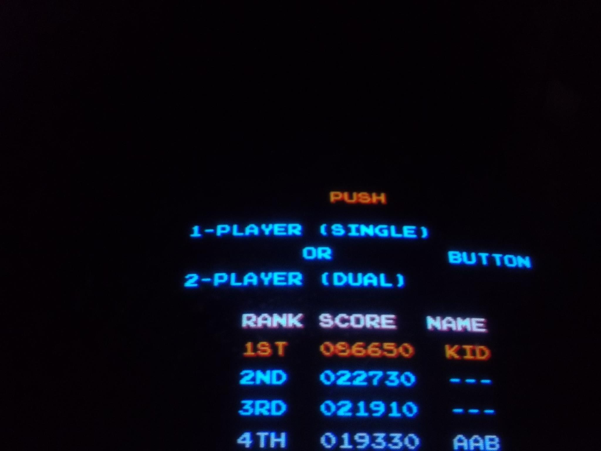 Mario Bros 86,650 points