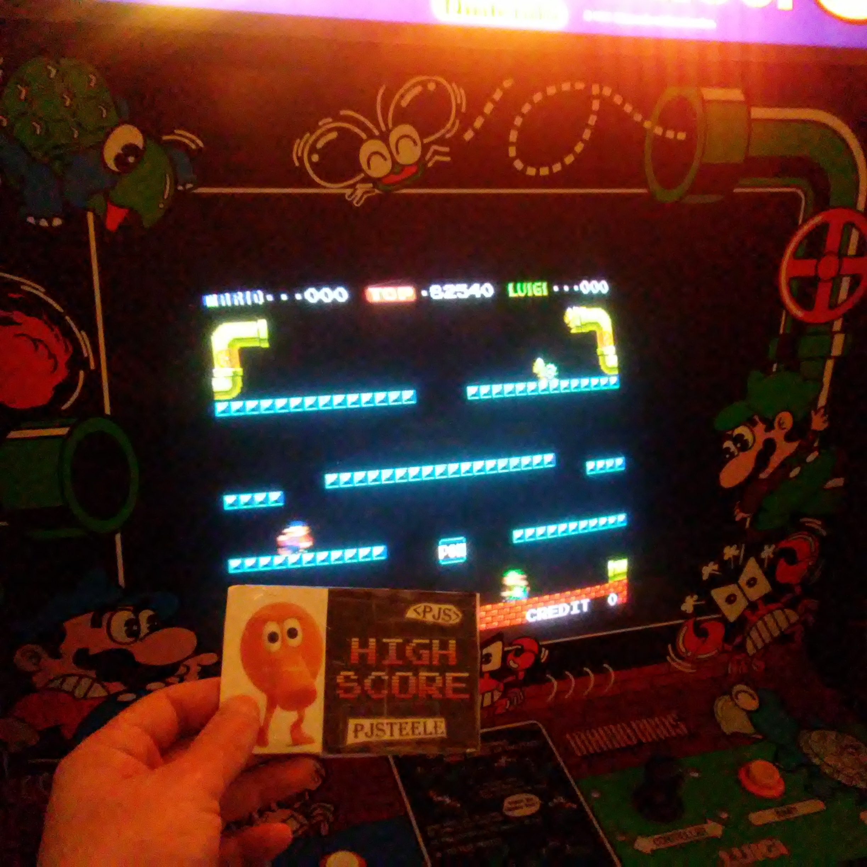 Pjsteele: Mario Bros (Arcade) 82,540 points on 2017-12-23 18:45:34