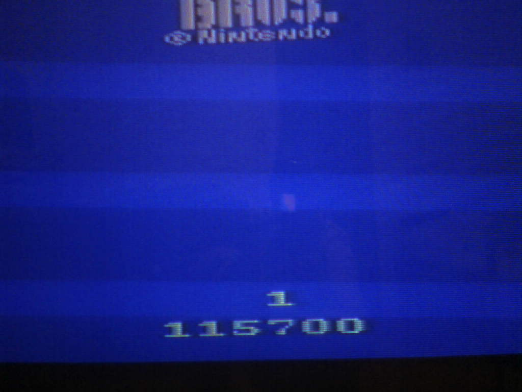 Mario Bros 115,700 points
