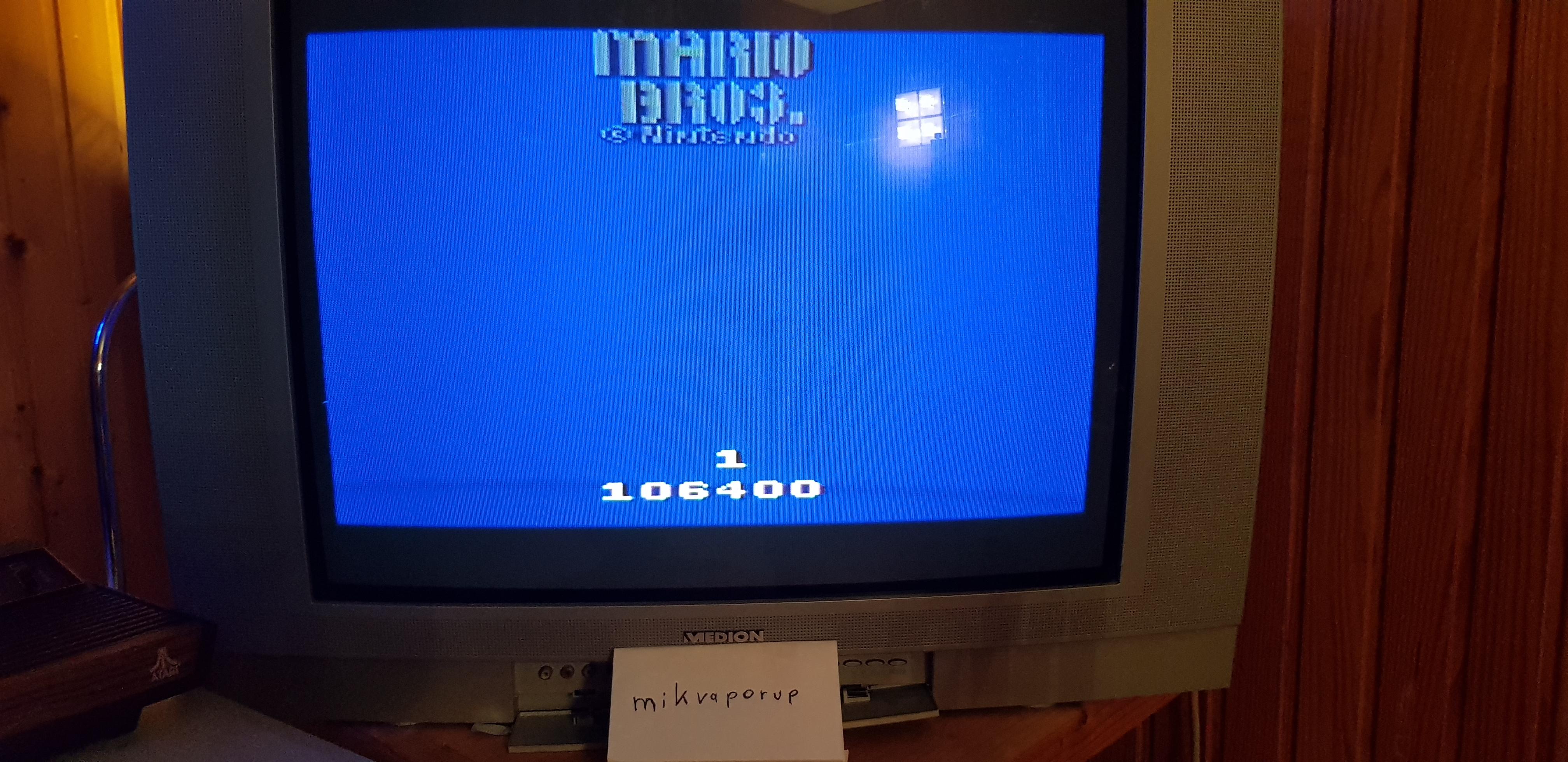 Mario Bros 106,400 points