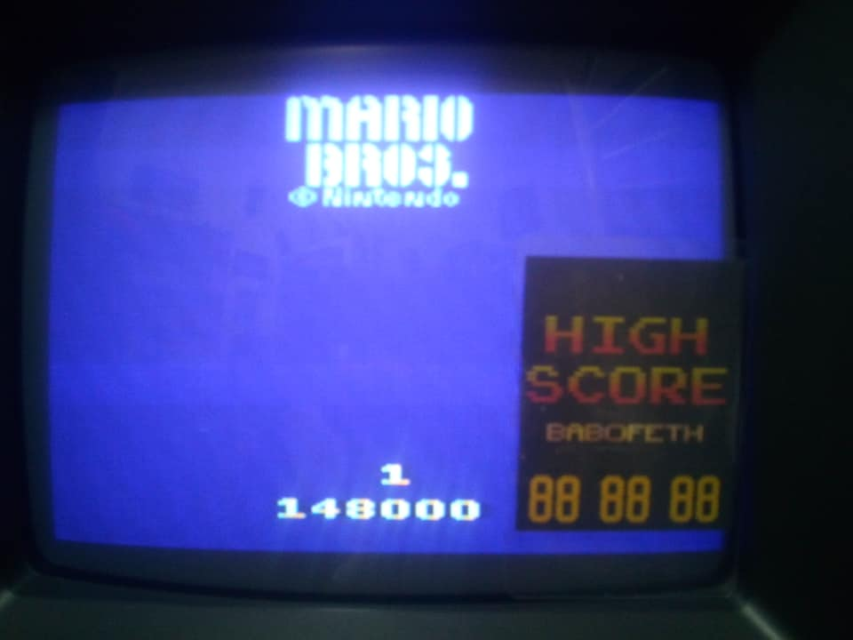 Mario Bros 148,000 points