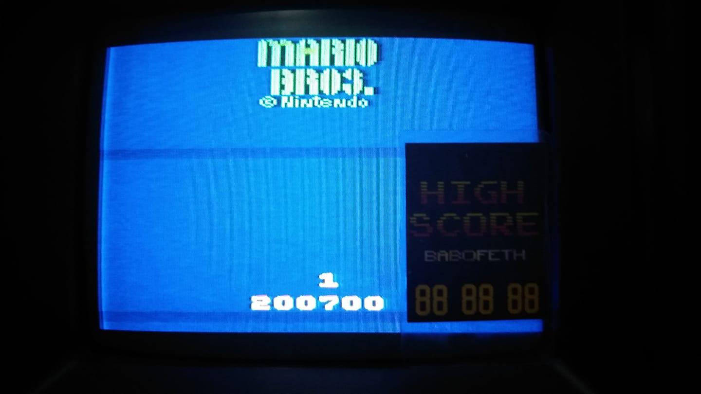 Mario Bros 200,700 points