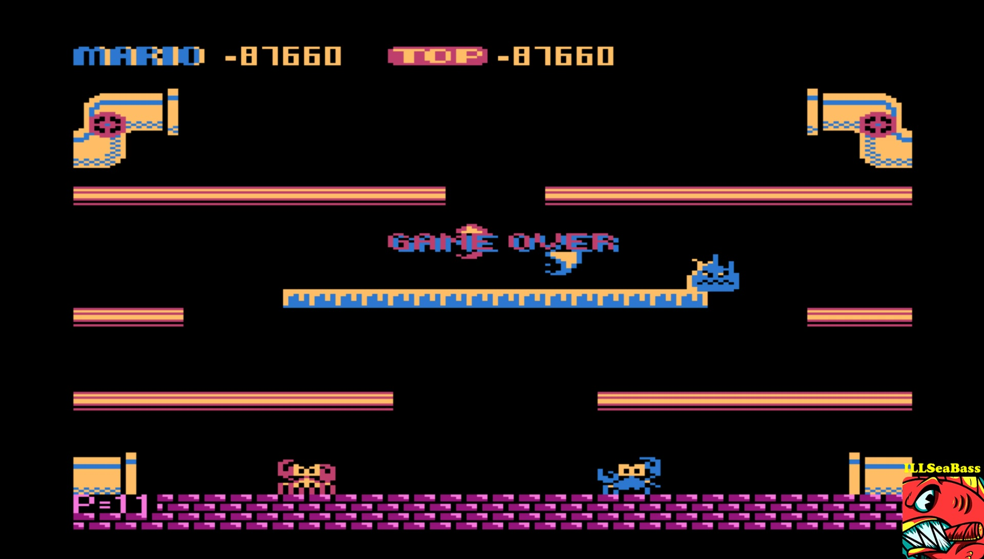 ILLSeaBass: Mario Bros (Atari 400/800/XL/XE Emulated) 87,660 points on 2017-06-14 08:42:33