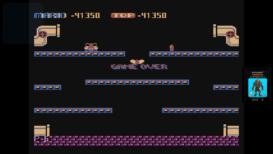 omargeddon: Mario Bros (Atari 400/800/XL/XE Emulated) 41,350 points on 2017-06-25 11:21:01