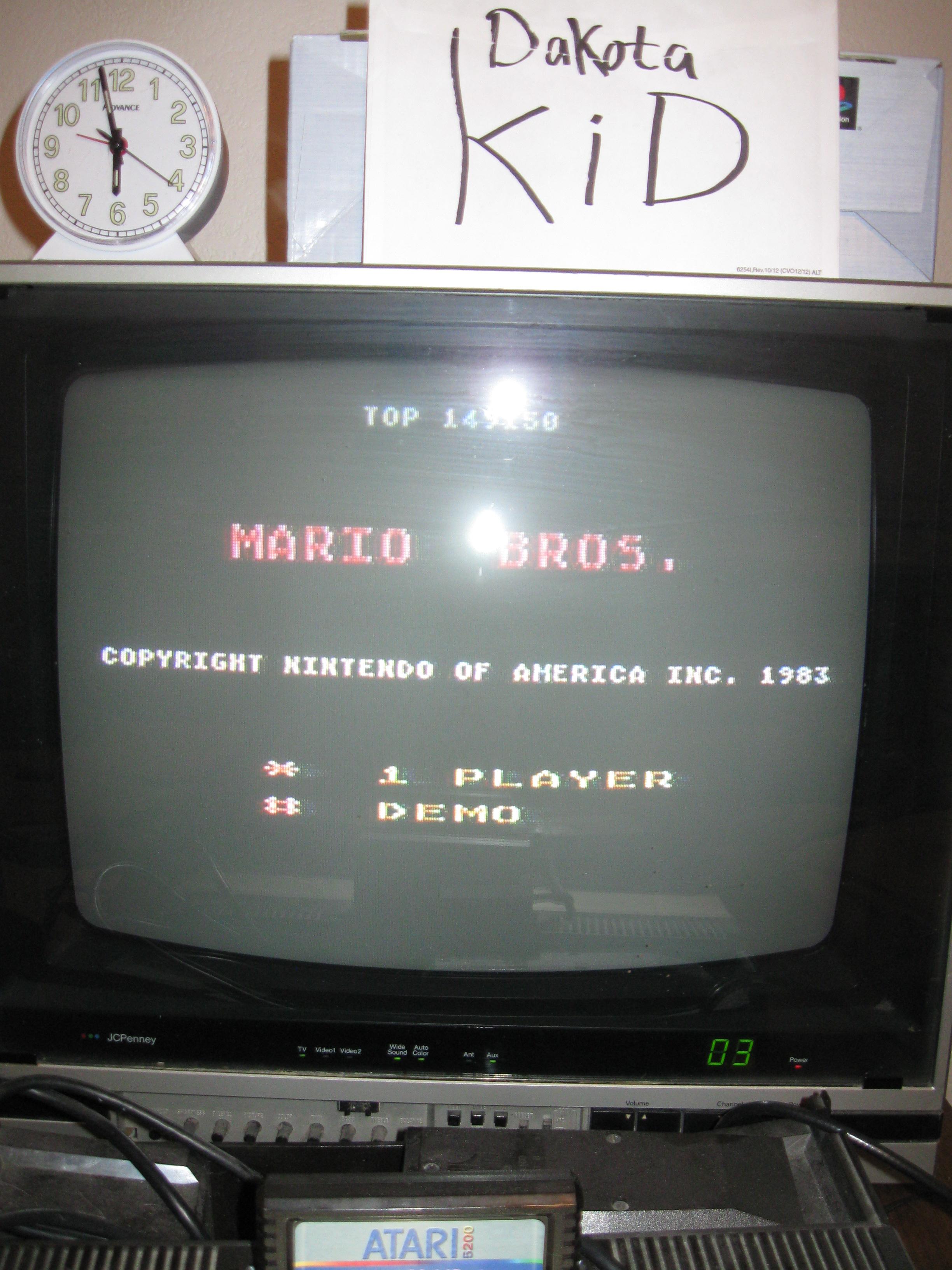 Mario Bros 149,150 points
