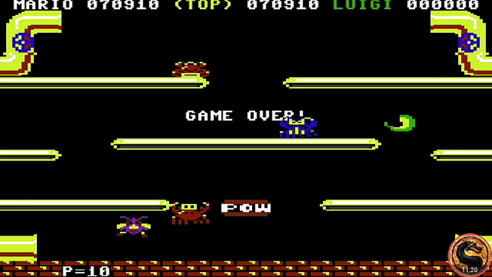 omargeddon: Mario Bros [Atarisoft] (Commodore 64 Emulated) 70,910 points on 2019-08-23 00:55:46