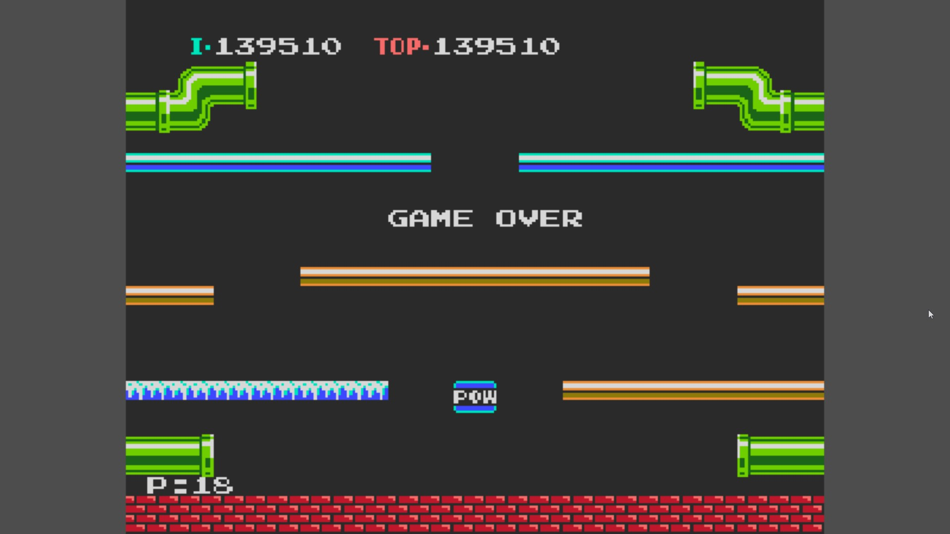 Mario Bros. Classic [Europe] 139,510 points
