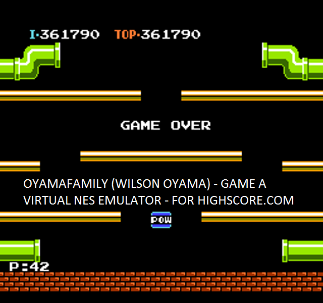 oyamafamily: Mario Bros. (NES/Famicom Emulated) 361,790 points on 2015-09-29 18:31:39