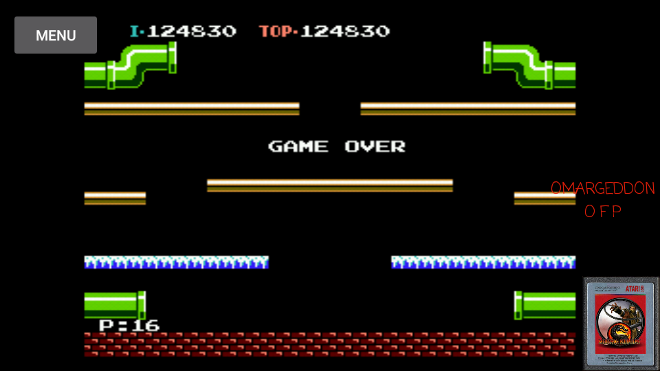 omargeddon: Mario Bros. (NES/Famicom Emulated) 124,830 points on 2017-05-04 00:21:27