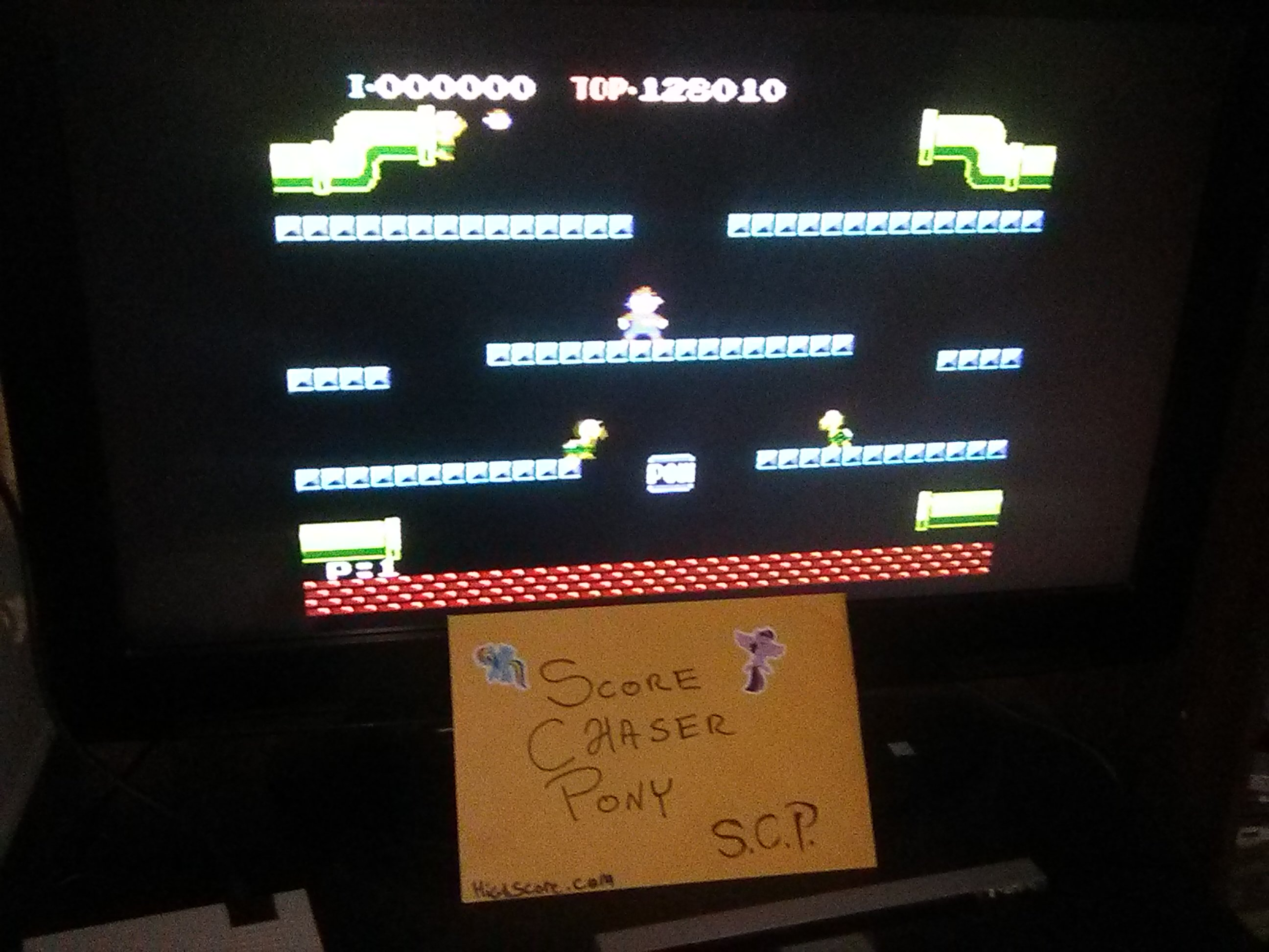 Scorechaserpony: Mario Bros. (NES/Famicom Emulated) 128,010 points on 2019-03-03 13:48:33