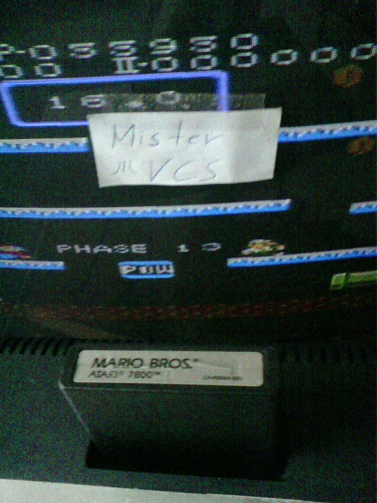 MisterVCS: Mario Bros. [Standard] (Atari 7800) 55,950 points on 2016-11-13 02:55:44